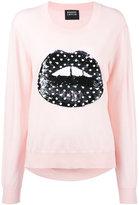 Markus Lupfer sequin lips sweater - women - Merino - XS