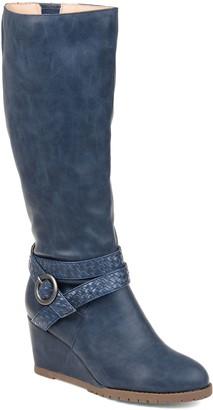 Journee Collection Garin Women's Wedge Knee High Boots