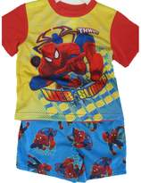 Spiderman Little Boys Sky Blue Superhero Cartoon Inspired 2 Pc Shorts Set