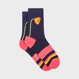 Paul Smith Women's Navy Flower Socks
