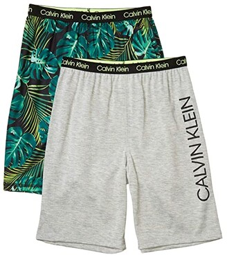 Calvin Klein Kids 2-Pack Shorts (Little Kids/Big Kids) (Skate/Black) Boy's Pajama