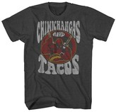 Men's Deadpool Chimichangas and Tacos T-Shirt Charcoal