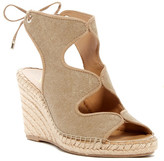 Franco Sarto Nash Metallic Wedge Sandal
