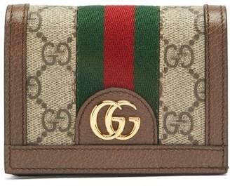 Gucci Ophidia Gg Supreme Web-stripe Canvas Wallet - Womens - Grey Multi