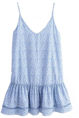 Goodnight Macaroon 'Finley' Light Blue Floral Strap Mini Dress