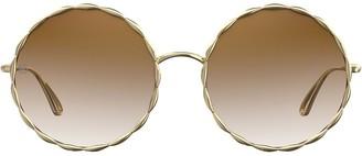Elie Saab Gradient Round Sunglasses