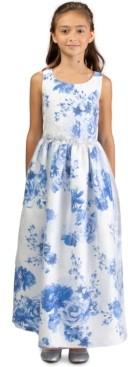 Bonnie Jean Big Girls Embellished Floral-Print Gown
