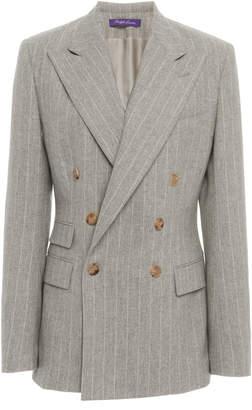 Ralph Lauren Astor Pinstriped Wool Blazer
