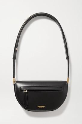 Burberry Mini Leather Shoulder Bag - Black
