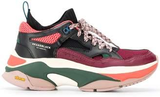 Brandblack Saga contrasting panel sneakers