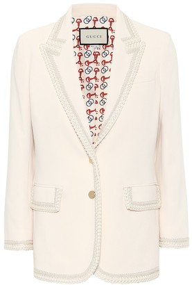 Gucci Embroidered cady blazer