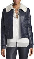 See by Chloe Aviator Jacket Navy