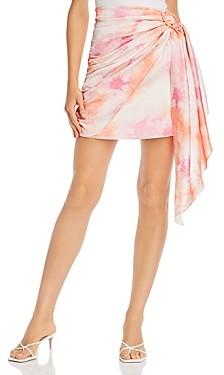WAYF Perry Faux Wrap Mini Skirt