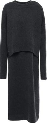 Joseph Cutout Ribbed Cashmere Midi Dress
