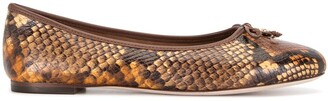 Tory Burch Snake-Print Ballerina Shoes