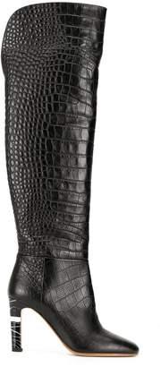 Gabriela Hearst Linda 90 croc-effect boots
