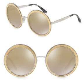 Dolce & Gabbana 54MM Mirrored Round Sunglasses
