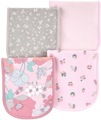Carter's Baby Girl 4-Pack Floral Burp Cloths