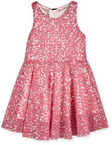Milly Minis Sequined Racerback Circle Dress, Pink, Size 4-7