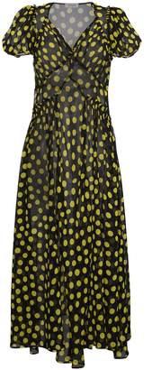 ATTICO Silk Polka Dot Maxi Dress