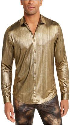 INC International Concepts I.n.c. Men Metallic Stripe Shirt