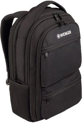 Wenger Fuse 16 Inch Laptop 20 Litre Backpack, Padded Laptop Compartment With Ipad/Tablet /Ereader Pocket Black