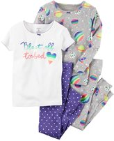 Carter's Baby Girl Graphic & Print Pajama Set