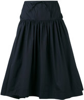 Jil Sander Navy woven skirt - women - Cotton - 36