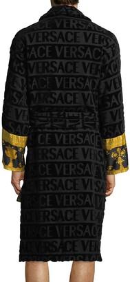 Versace Men's Barocco Sleeve Robe