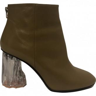 Acne Studios Khaki Leather Ankle boots