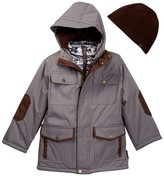 Hawke & Co Hooded Vestee Parka with Elbow Patches (Little Boys)