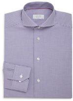 Eton Slim-Fit Gingham Cotton Dress Shirt