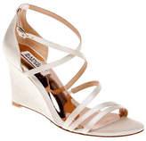 Badgley Mischka Bonanza Satin Wedge Sandals