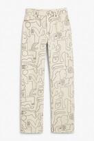 Thumbnail for your product : Monki Taiki straight leg jeans