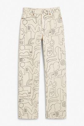 Monki Taiki straight leg jeans