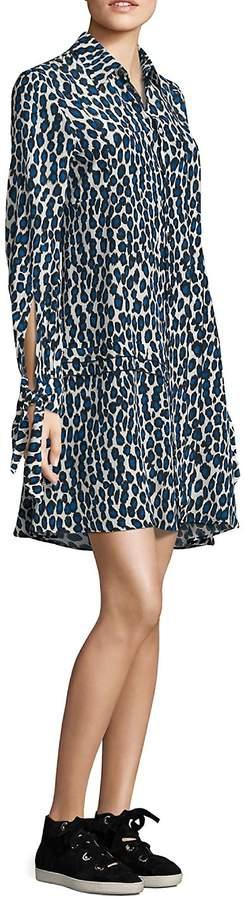 Derek Lam Women's Silk Leopard Shirtdress