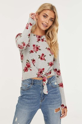 Ardene Knotted Floral Tee