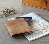 Pottery Barn Mila Suede Travel Passport Cover