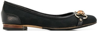 Gucci Pre-Owned bamboo detail ballerina shoes