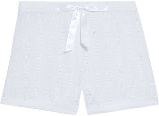Myla Brook Street Broderie Anglaise Voile Pajama Shorts