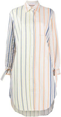 J.W.Anderson button up striped shirt dress