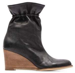 Andre Assous Sol Leather Wedge Booties