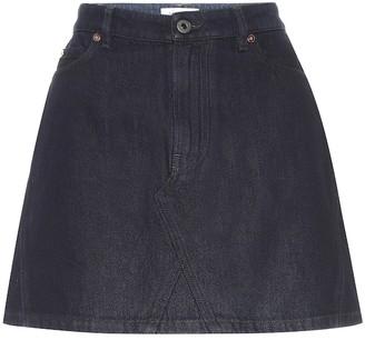Valentino VLOGO high-rise denim miniskirt