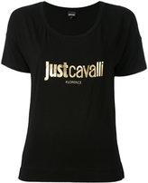 Just Cavalli logo print T-shirt - women - Spandex/Elastane/Viscose - XS