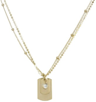 Ettika Dainty Femme Tags Necklace