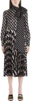 Valentino Printed Midi Dress