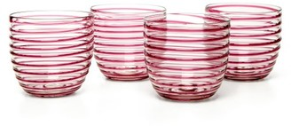 Yali Glass - Set Of Four Goto Tumblers - Purple