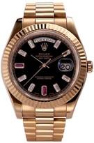 Rolex 777 pre-owned DayDate ruby 40 mm watch
