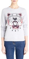 Kenzo Women's 'The Light' Embroidered Tiger Brushed Cotton Sweatshirt