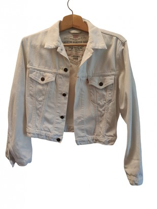 Levi's White Denim - Jeans Jackets